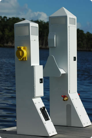 fire products american station pedestal accessories boat power dock